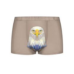 Трусы-боксеры мужские Геометрический орел цвета 3D — фото 1