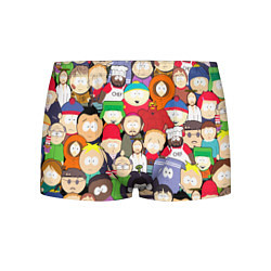 Трусы-боксеры мужские South Park персонажи цвета 3D — фото 1