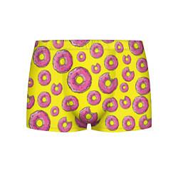 Мужские 3D-трусы боксеры с принтом Пончики Гомера, цвет: 3D, артикул: 10063826903997 — фото 1