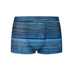 Трусы-боксеры мужские Голубые доски цвета 3D — фото 1