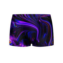 Трусы-боксеры мужские Цветные разводы цвета 3D-принт — фото 1