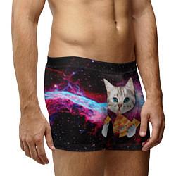 Трусы-боксеры мужские Кот с едой цвета 3D-принт — фото 2