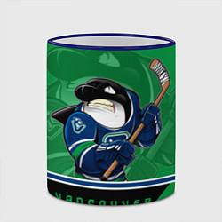 Кружка 3D Vancouver Canucks цвета 3D-синий кант — фото 2