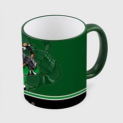 Кружка 3D Dallas Stars цвета 3D-зеленый кант — фото 1
