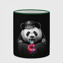Кружка 3D Donut Panda цвета 3D-зеленый кант — фото 2