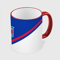 Кружка 3D NHL: New York Rangers цвета 3D-красный кант — фото 1