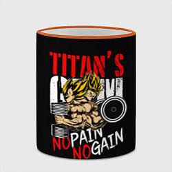 Кружка 3D Titans Gym цвета 3D-оранжевый кант — фото 2