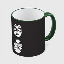 Кружка 3D KISS Mask цвета 3D-зеленый кант — фото 1