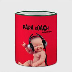 Кружка 3D Paparoach: Music Kid цвета 3D-зеленый кант — фото 2