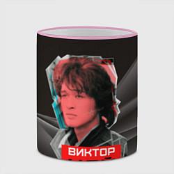 Кружка 3D Виктор Цой цвета 3D-розовый кант — фото 2