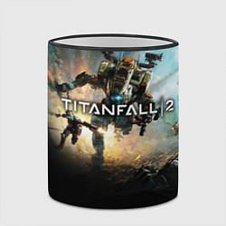 Кружка 3D Titanfall Battle цвета 3D-черный кант — фото 2