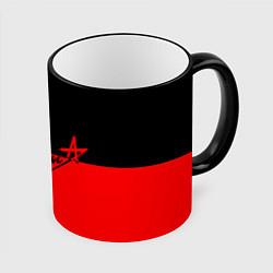 Кружка 3D АлисА: Черный & Красный цвета 3D-черный кант — фото 1