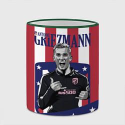 Кружка 3D Griezmann: Atletico Star цвета 3D-зеленый кант — фото 2