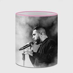 Кружка 3D Jah Khalib: Black mist цвета 3D-розовый кант — фото 2