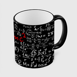 Кружка 3D E=mc2 цвета 3D-черный кант — фото 1