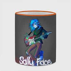 Кружка 3D Sally Face: Rock Star цвета 3D-оранжевый кант — фото 2
