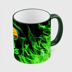 Кружка 3D BRAWL STARS LEON цвета 3D-зеленый кант — фото 1
