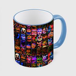 Кружка 3D Five Nights At Freddy's цвета 3D-небесно-голубой кант — фото 1