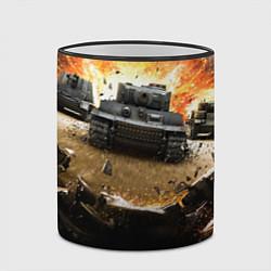 Кружка 3D ТАНКИ цвета 3D-черный кант — фото 2