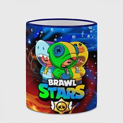 Кружка 3D BRAWL STARS LEON SKINS цвета 3D-синий кант — фото 2