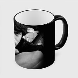 Кружка 3D Виктор Цой цвета 3D-черный кант — фото 1