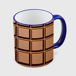 Кружка 3D Шоколад цвета 3D-синий кант — фото 1