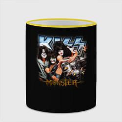 Кружка 3D Kiss Monster цвета 3D-желтый кант — фото 2