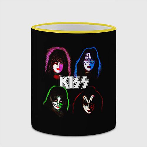 Кружка цветная KISS: Acid Colours / 3D-Желтый кант – фото 2