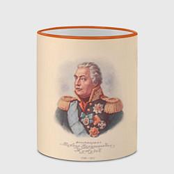 Кружка 3D Михаил Кутузов 1745-1823 цвета 3D-оранжевый кант — фото 2