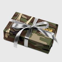 Бумага для упаковки Униформа дембеля цвета 3D — фото 2