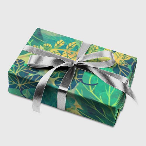 Бумага для упаковки Узор из листьев / 3D – фото 2