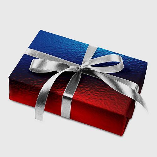 Бумага для упаковки Синий и красный / 3D – фото 2