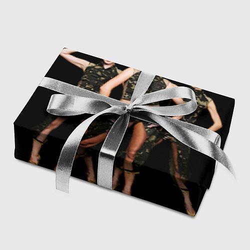 Бумага для упаковки Армейские девушки / 3D – фото 2