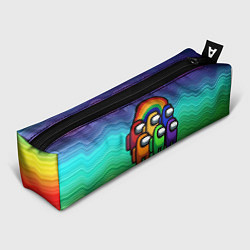 Пенал для ручек Among Us Радуга цвета 3D-принт — фото 1