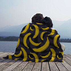 Плед флисовый Бананы цвета 3D — фото 2