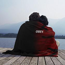 Плед флисовый Obey Military Black Red цвета 3D-принт — фото 2