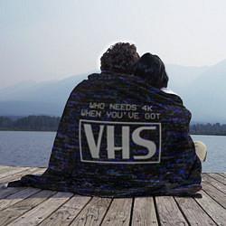 Плед флисовый 4K VHS цвета 3D-принт — фото 2