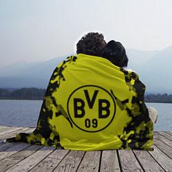 Плед флисовый FC Borussia Dortmund: Yellow & Black цвета 3D-принт — фото 2