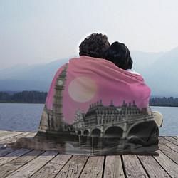 Плед флисовый Закат в Великобритании цвета 3D — фото 2