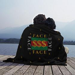 Плед флисовый FACE GG Style цвета 3D-принт — фото 2