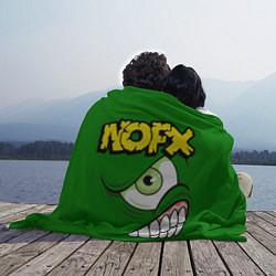 Плед флисовый NOFX Face цвета 3D — фото 2