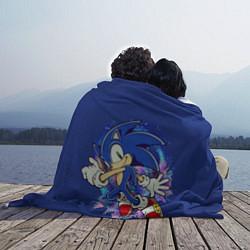 Плед флисовый Sonic цвета 3D — фото 2