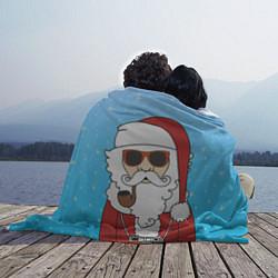 Плед флисовый Дед мороз цвета 3D — фото 2