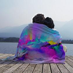 Плед флисовый Абстракция цвета 3D — фото 2