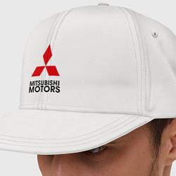 Кепка-снепбек Mitsubishi цвета белый — фото 1