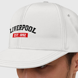 Кепка-снепбек FC Liverpool Est. 1892 цвета белый — фото 1