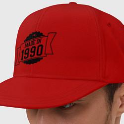 Кепка-снепбек Made in 1990 цвета красный — фото 1