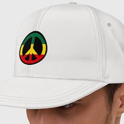 Кепка-снепбек Peace Symbol цвета белый — фото 1