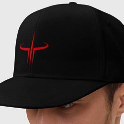 Кепка-снепбек Quake logo цвета черный — фото 1