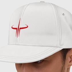 Кепка-снепбек Quake logo цвета белый — фото 1